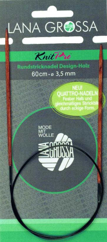 Rundstricknadel Holz Quattro 80/8,0