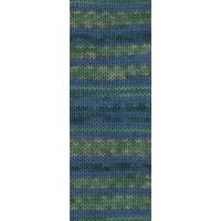 MEILENW.100 MERINO EXTRAF. MILANO - Jade/Dunkel-/Hellgrün/Beige/Blau - 2541