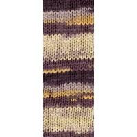 ABOUT BERLIN BULKY PRINT - Violett/Beige/Apricot/Antikviolett - 102
