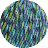 BINGO FUNKY PRINT - Blau/Petrol/Lila/Grün meliert