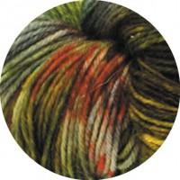MEILENWEIT 100 MERINO HAND-DYED - Roti - Senfgelb/Hell-/Dunkelgrau/Schlamm - 304