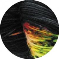 MEILENWEIT 100 MERINO HAND-DYED - Jaipur - Schwarz/Weiß/Blau/Rosa - 306