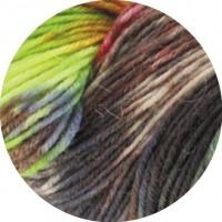 MEILENWEIT 100 MERINO HAND-DYED - Samosa- Weinrot/Hellgrün/Grau/Violett - 401