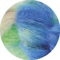 SILKHAIR HAND-DYED - Taj - Blau/Mint/Rosa/Grau - 602