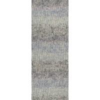 SOLO LINO PRINT - Graubeige/Hellblau/Jeans/Dunkelgrau - 154